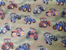 Nutex Tractor time Fabric 100% cotton